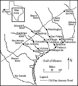 This Map Shows the Major Settlements in Texas that Date from the Time of the Republic.