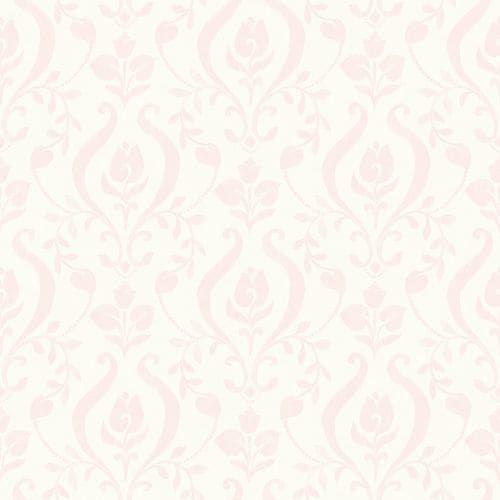 Brewster HAS01253 Eloise Light Pink Damask Wallpaper