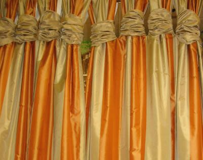 Lolita Drapery Panel - Tab Top with Silk Wraps