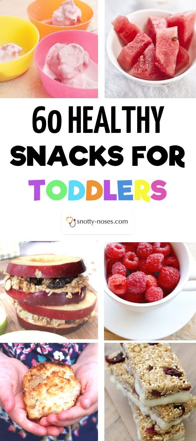 60 Healthy Snacks for Toddlers. Whether you're looking for a healthy snack recipe or a healthy snack idea, this is the post for you. Even if you have a fussy toddler or a picky toddler you're sure to find a healthy snack that your toddler will love!