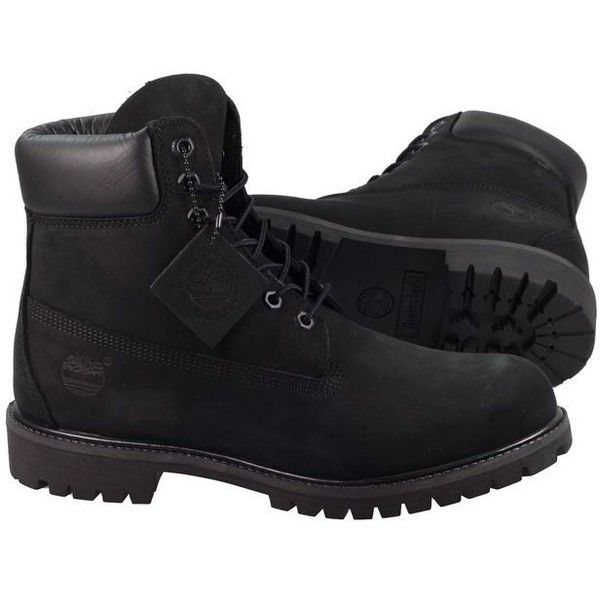 Timberland Boots Mens 6 Inch Prem Black (7,140 THB) ❤ liked on Polyvore featuring men's fashion, men's shoes, men's boots, mens shoes, mens black knee high boots, timberland mens shoes, mens black shoes and mens boots