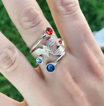 Fill your hands with power while wearing our Wonder Woman stack-able rings.