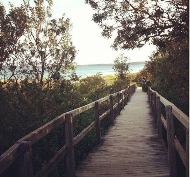 Boardwalk to the beach at Lake Conjola, NSW, Australia. Photo: SiobhanClifford37