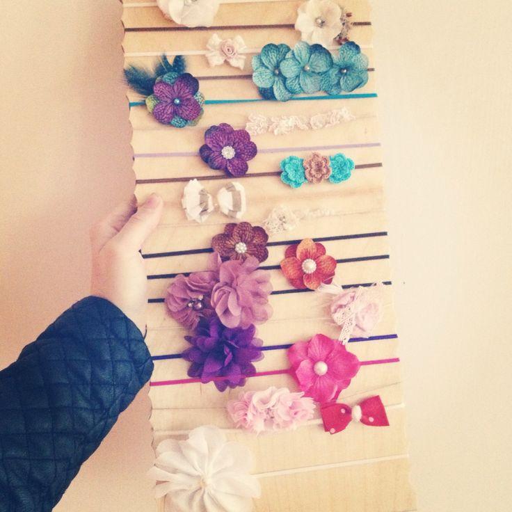 Haarband Halterung für meine Newborn Haarbänder!  LOVE IT!  DANKE PAPA!!!
