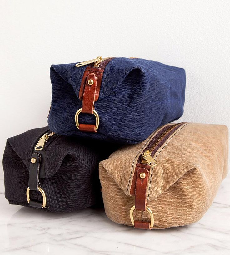 Waxed Canvas Dopp Kit | Port and organize all of your grooming supplies with this hand... | Toiletry Bags