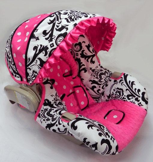 Custom Boutique Sorbet Splash Infant car seat cover. $109.00, via Etsy.