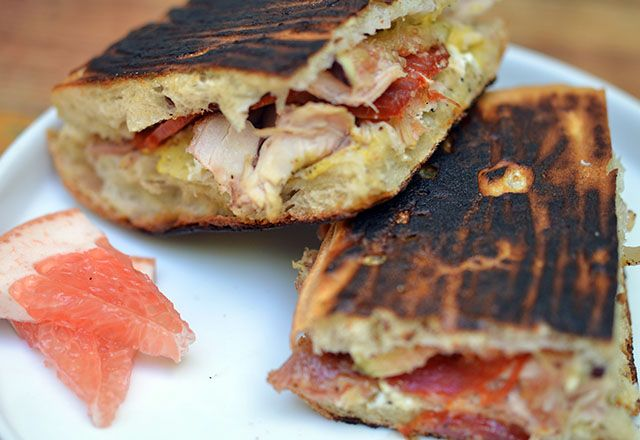 Grilled Chicken and Fig Pressed Sandwich