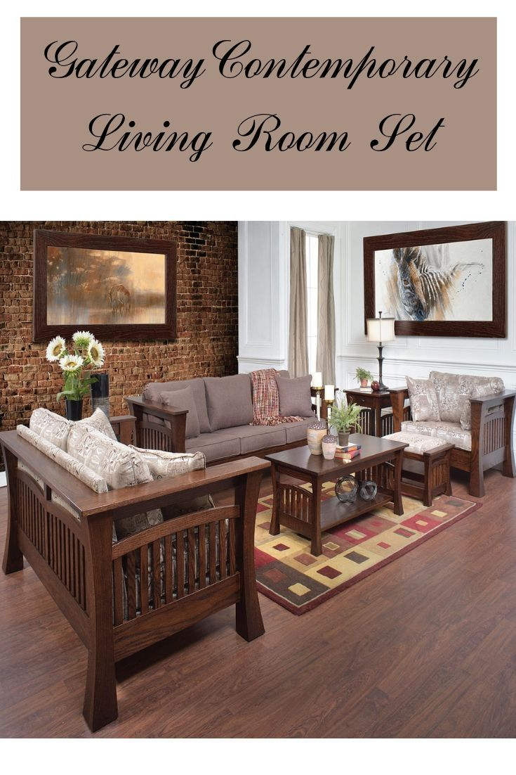 Living room furniture   GATEWAY CONTEMPORARY LIVING ROOM SET ...