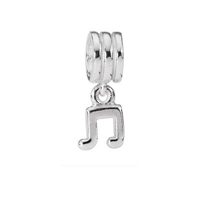 For the music lover or the musician: Music note dangle charm in sterling silver. $25 #pandora #pandorajewelry #pandorajewellery #gift