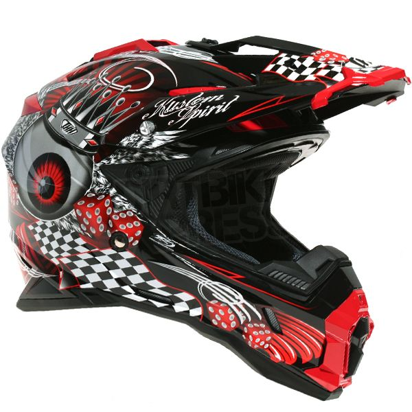 THH TX-25 KingEyes Helmet Black Red