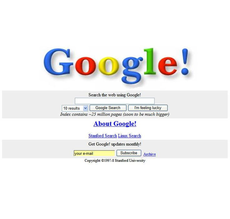 Throwing it back to the OG (Original Google) homepage to ...