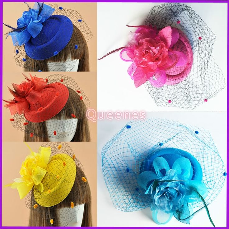 12.77$  Watch now - http://alibod.shopchina.info/1/go.php?t=32784588982 - Vintage Women Dotted Veil Mini Hat USA Mesh Floral Fascinator Korean Fashion Hat Veil Hairpin Fancy Party Church Girls Headdress 12.77$ #bestbuy