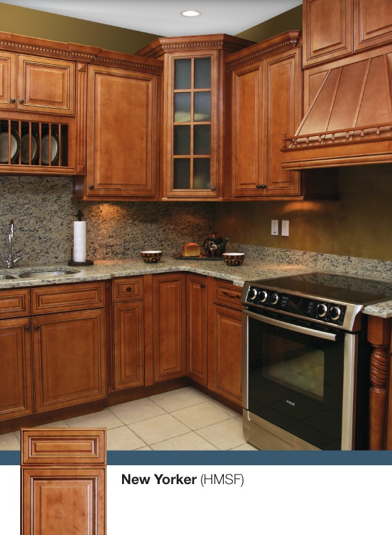 The new yorker kitchen discounted kitchen cabinets by for New kitchen cabinets