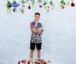 Andy•Ghionda S|S 14 :  Take a trip through a open field of wild flowers with Andy Ghionda. Using sweat resistant light weight fabrics ideal for warmer climates and a floral print inspired collection.   Photo Credits : John WeberModel : Nicolas Bistarelli www.andyghionda.com