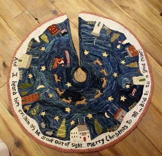 Christmas in New England Tree Skirt Rug Hooking Kit