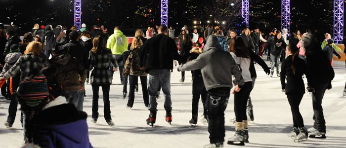Outdoor Holiday ice skating!!