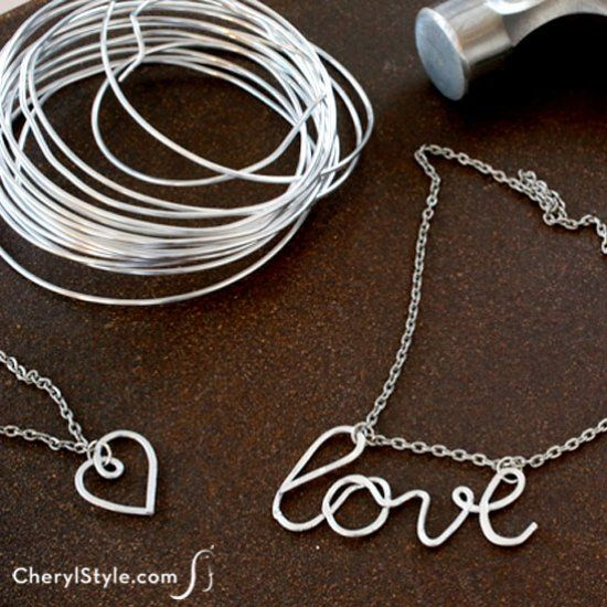 Hammered metal jewelry is a craft that looks expensive, is easy to do, and requires only a few tools and wire to make.