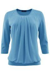 Frank Walder - blousend shirt met geplooid effect #fashion #colortrends #trends #pantone #airyBlue