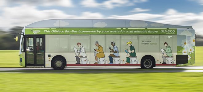 UK's first ever bus to run on human and food waste launched