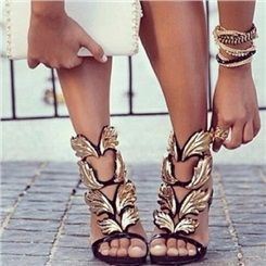 New Arrival Black High Heels Sexy Sandals