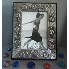 Pewter Art Picture Frame - Handcrafted by Hanli Barnard for R100.00