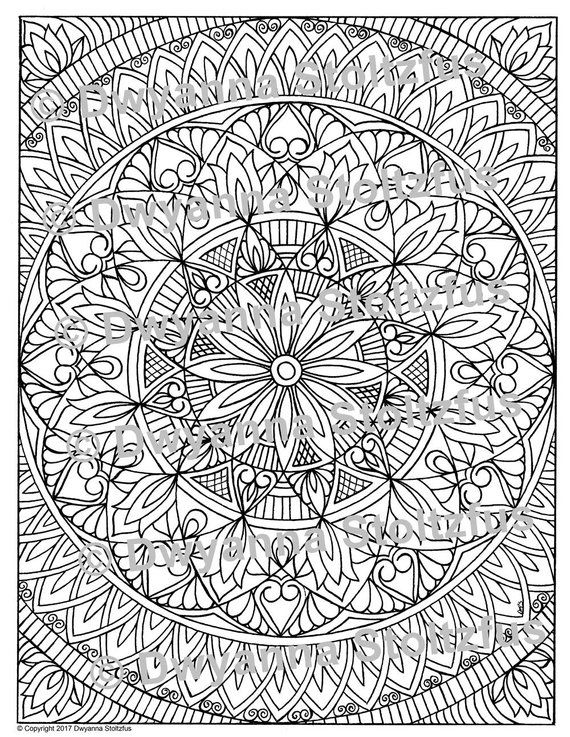 Stress Relieving Pattern 17 Coloring Page Jpg Etsy In 2021 Pattern Coloring Pages Coloring Pages Mandala Coloring Pages
