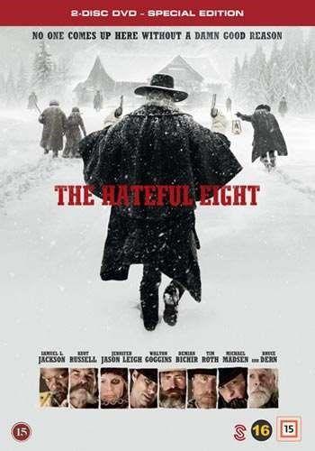 """The hateful eight [Videoupptagning] ...John """"The Hangman"""" Ruth transporterar Daisy Domergue genom ett vintrigt Wyoming mot staden Red Rock där hon ska ställas inför rätta och troligen hängas. Längst med vägen plockar han upp två främlingar, och tillsammans fortsätter den brokiga skaran sin resa. Men när en kraftig snöstorm sveper in över slätterna, tvingas de fyra ta skydd i en raststuga uppe i bergen. Väl där möts de inte av ägarna, utan av fyra okända ansikten."""