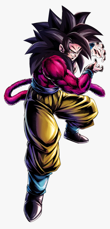 Super Saiyan 4 Goku Dragon Ball Legends, HD Png Download