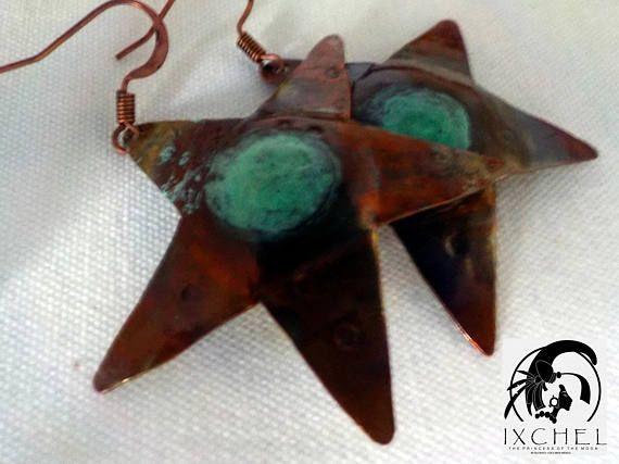 super cool star earrings handmade