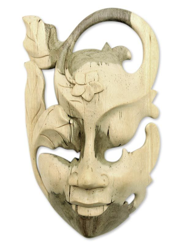 Buy Wood mask, 'Frangipani Flower Woman' today. Shop unique, award-winning Artisan treasures at Unicef UK Market. Each original piece goes through a certification process to guarantee best value and premium quality.