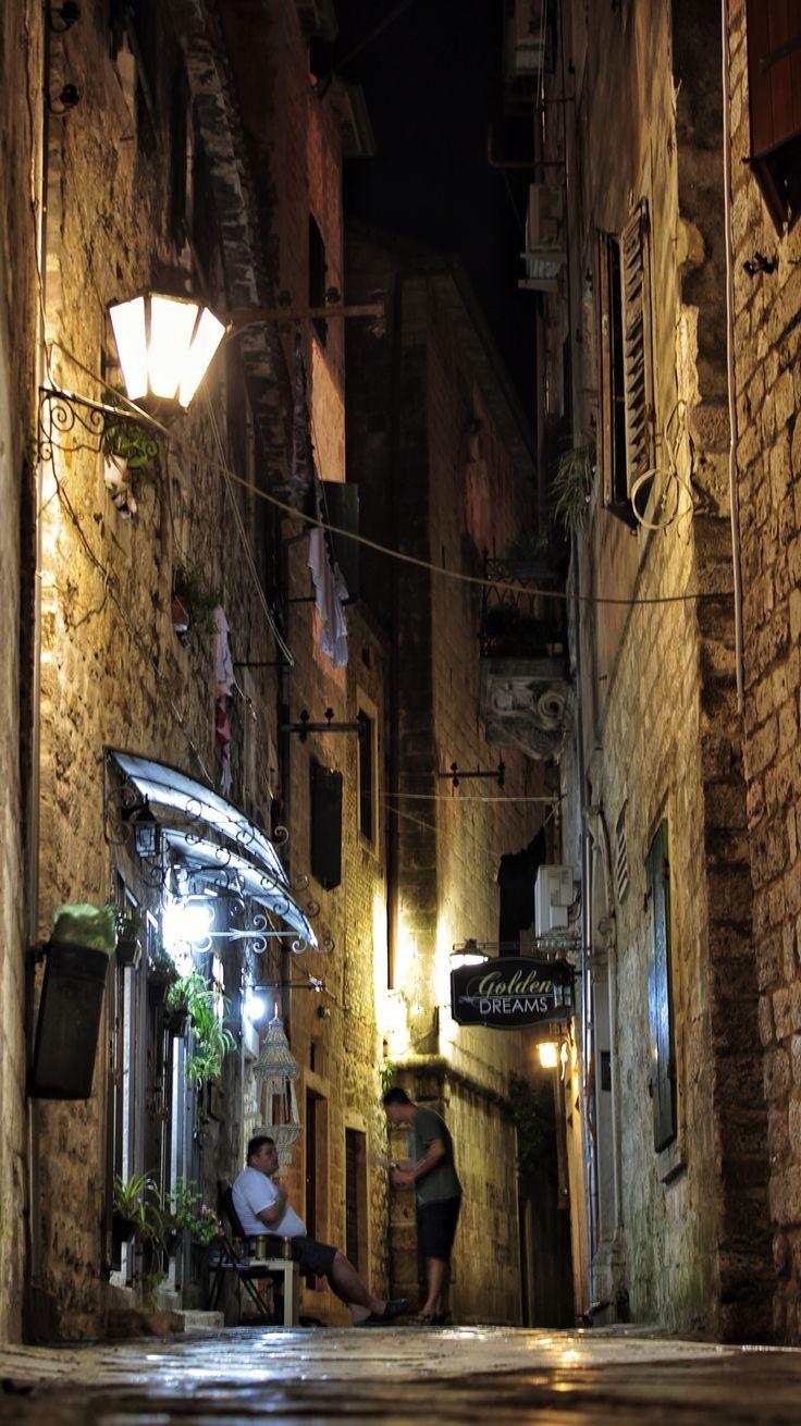 Walking around at night in #Kotor, wonderful coastal town in #Montenegro