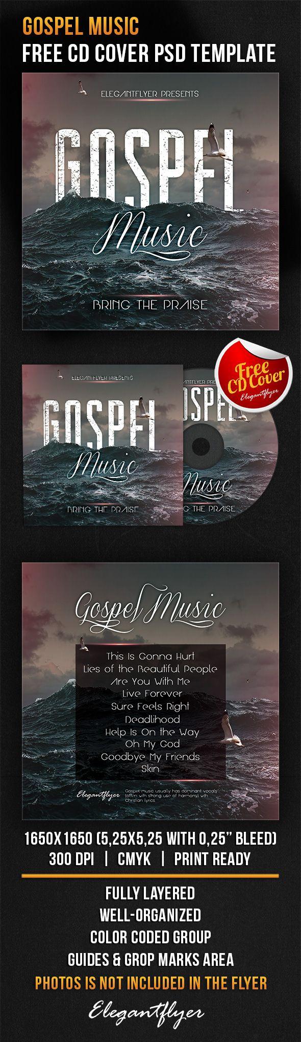 Gospel Music – Free CD Cover PSD Template https://www.elegantflyer.com/free-cd-dvd-templates/gospel-music-free-cd-cover-psd-template/
