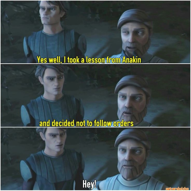 This prank made my day  #nottofolloworders #SWTCW #AnakinSkywalker #MattLanter  #ObiWanKenobi #JamesArnoldTaylor