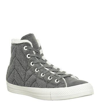 Converse, Converse All Star Hi, Charcoal Stitch Fur