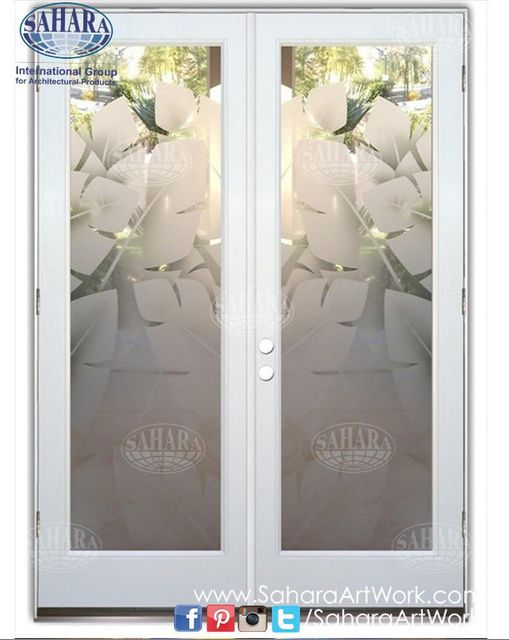 What do you think of these door inserts with sandblasted leaves design with 3D effect?