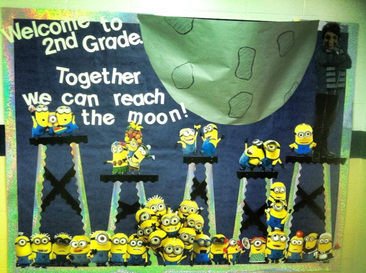 back to school bulletin board for my minion themed classroom!