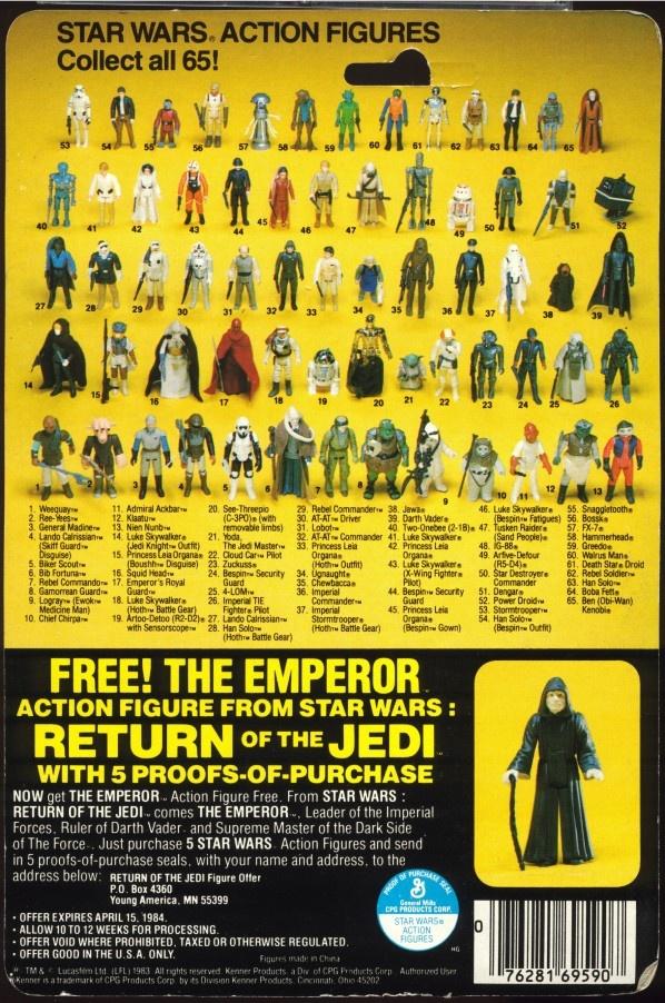Kenner Star Wars Figure Card Backs 1983 84 Star Wars Awesome Vintage Star Wars Toys Vintage Star Wars Figures