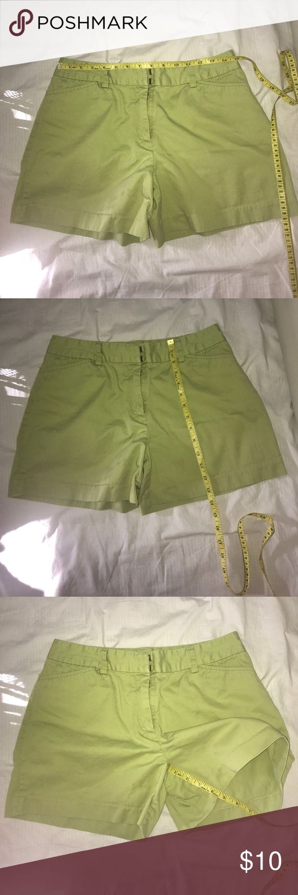 Khakis Internacional Design Shorts Lime green Shorts in good condition. Small spot see last pic Shorts Skorts