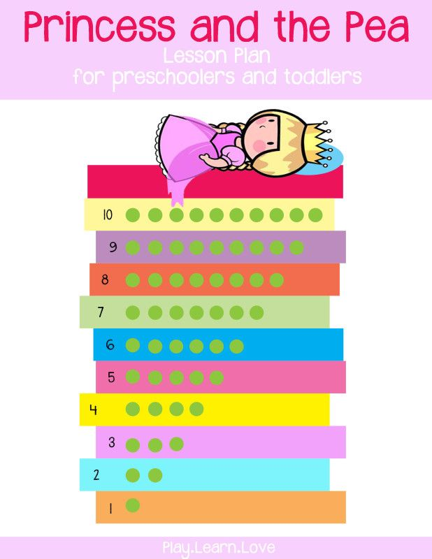 Princess and the Pea Lesson Plan for Preschoolers and Toddlers