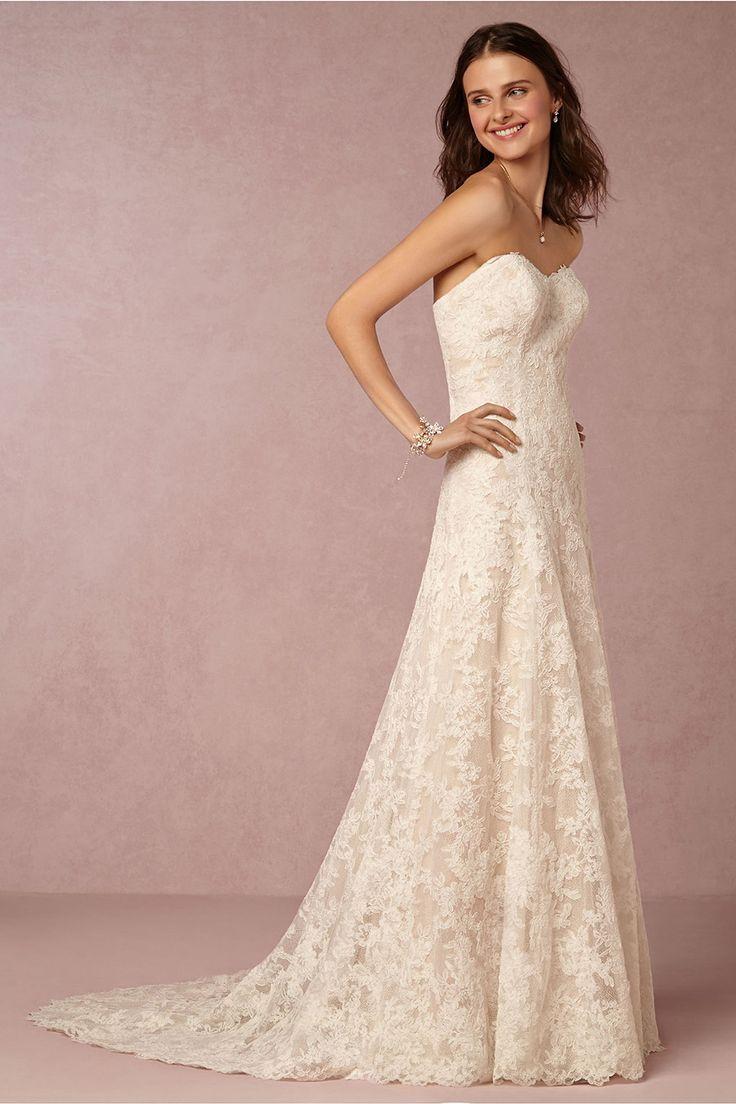15 best Lace Wedding Dresses images on Pinterest | Wedding frocks ...