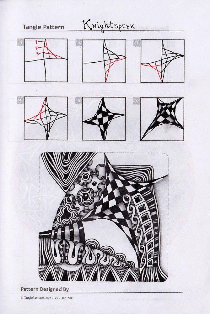 Knightspeek Zentangle doodles how to Tangle: Pattern Tutorial  #Tutorial #zentangle #tangle  Zentangle Steps | ZenTangle Instructions /Steps /How To /Patterns /  Tags: tangle zentangle zendoodle tanglepattern zentangleinspiredart