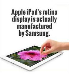 Apple's Retina Display is Actually Manufactured by Samsung