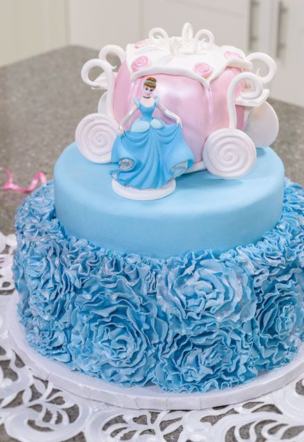 Beautiful Cinderella Cake With Fondant Roses And Hand