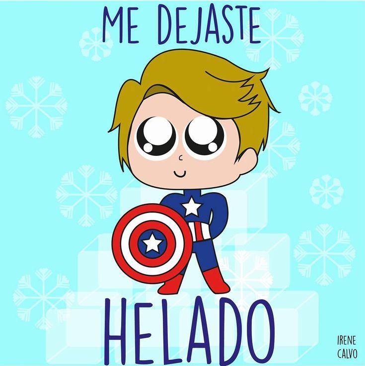 Ilustracion inspirada en el Capitan america de Irene Calvo
