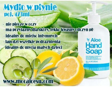 Aloe Hand Soap - Aloesowe mydło w płynie do rak zawiera dodatkowo wyciąg z ogórka, olejek ze skórki cytrynowej i oliwę z oliwek, by znacząco podwyższyć siłę nawilżania. Twój nowy ulubiony sposób na czyste dłonie!  Zastosowanie:      - Łagodnie oczyszcza naskórek z wszelkich zanieczyszczeń     - Nawilża i wygładza powierzchnię skóry     - Ma przyjazny dla skóry, lekko kwaśny odczyn pH     - Myje bez łez     - Łagodzi wszelkie podrażnienia skóry     - Znakomity środek również do higieny…