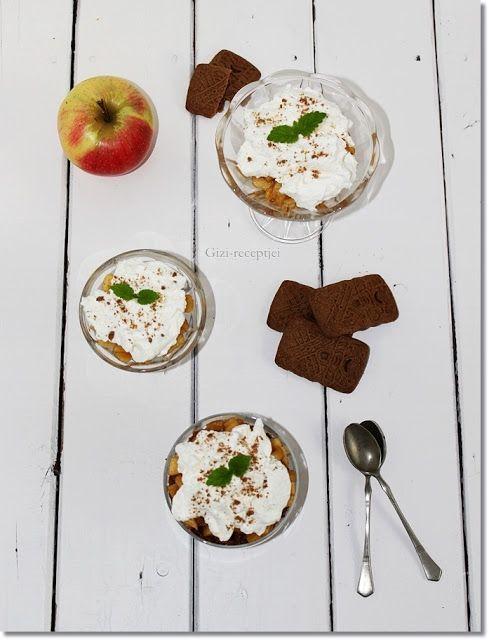 Gizi-receptjei.  Várok mindenkit.: Karamellizált alma ropogós keksszel és mascarponek...