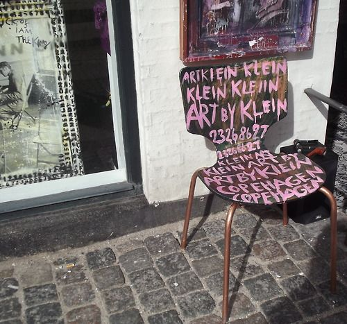 spray painted old chair