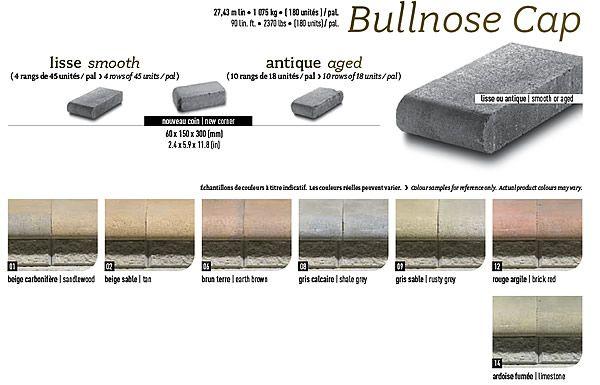 Retaining Wall Seating Techo Bloc 174 Bullnose Cap Stones