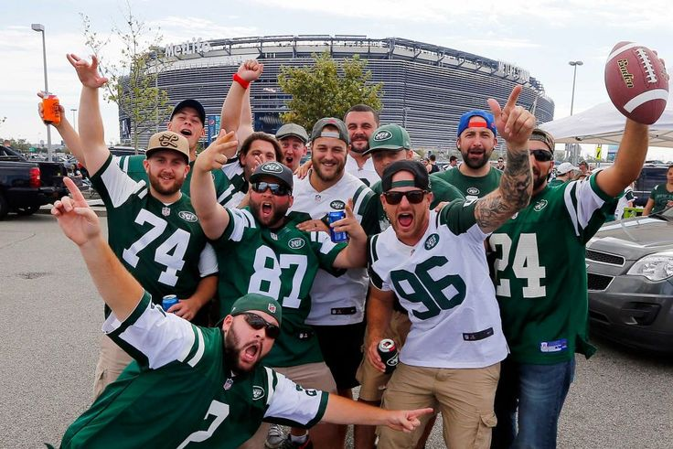 New York Jets fans are fired up before the opening day game against the Cincinnati Bengals at MetLife Stadium on Sunday, Sept. 11, 2016 in East Rutherford, New Jersey.