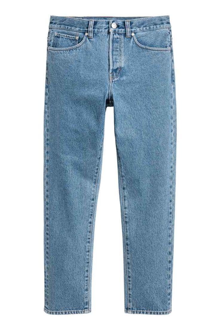 straight regular jeans bleu denim clair homme h m fr. Black Bedroom Furniture Sets. Home Design Ideas